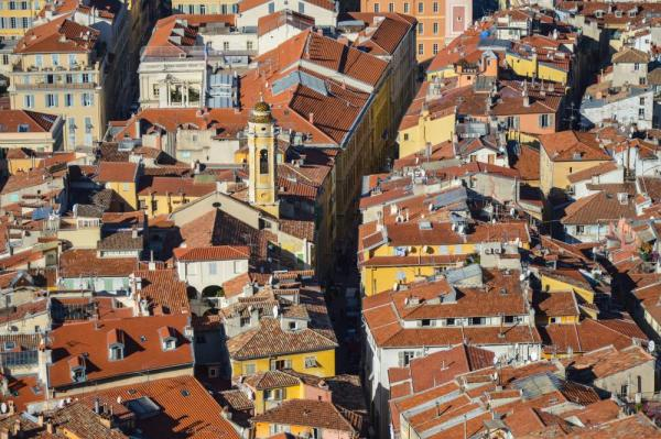 The rooftops of Nice