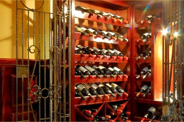 The wine room at Ritz Apart