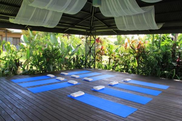 The yoga deck at Arenal Springs Resort and Spa