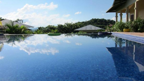 The infinity pool at Soma Surf Resort