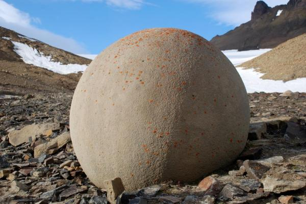 Journey to Franz Josef Land to see the unique, perfectly spherical stones that dot the landscape