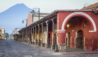 Colorful streets of Antigua