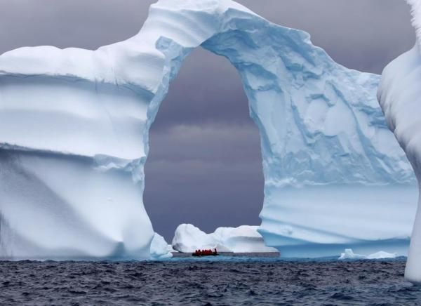 A spectacular iceberg off the coast of Antarctica
