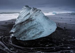 An old iceberg on the beaches of Deception Island