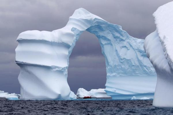 A specatular iceberg off the coast of Antarctica