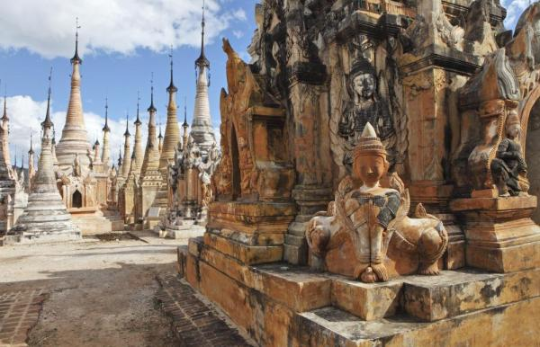 Beautiful temples in Myanmar