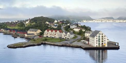 An early morning view of Alesund, Norway