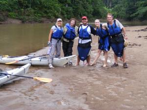 Kayak group in the Amazon