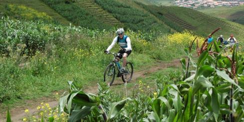 Biking the lush, green countryside of Guatemala