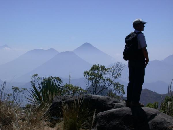 Hiking among towering peaks of Guatemala