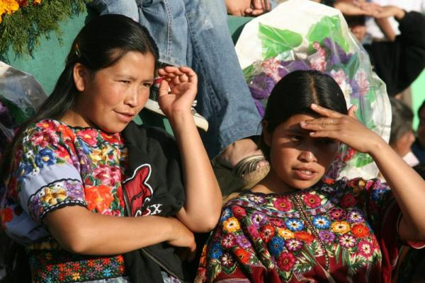 Bystanders watch the Kite Festival of Guatemala