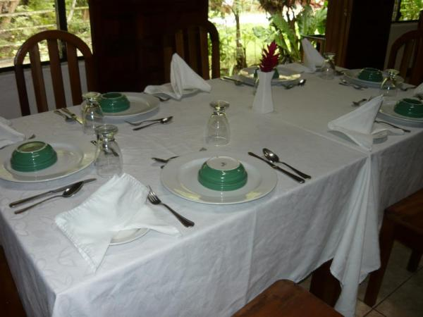 Enjoy great meals in the dining room at Jungle Lodge
