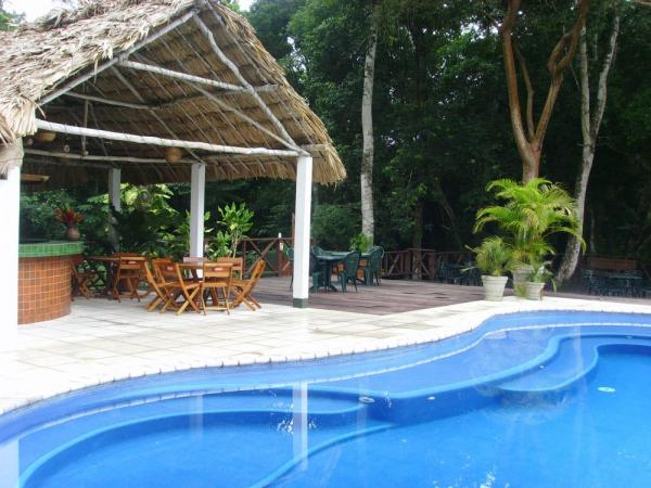 Enjoy a swim in the pool at Jungle Lodge