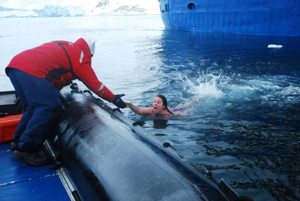 Polar Plunge: I've never been more happy to climb in a boat.