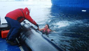 Polar Plunge: Get me out of here!