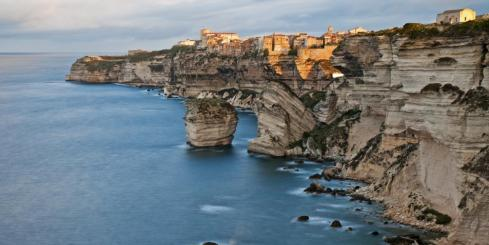 The city of Bonifacio is built on stunning seaside cliffs along the riviera