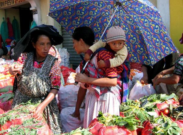 Locals in the markets of Guatemala