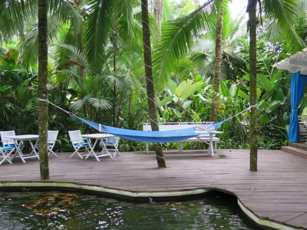 Relax on the quiet decks at Le Cameleon