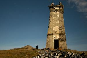 Visit the crumbling lighthouse on remote Verhkotorova Island