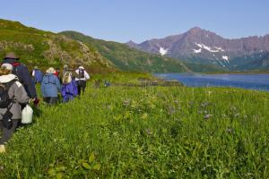 Explore the Koryaksky Reserve by foot when you hike to Tintikun Lagoon