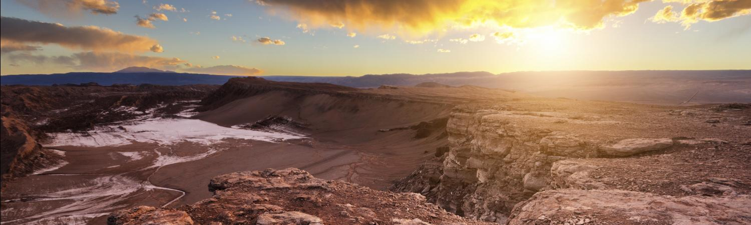 A magnificent sunset over Atacama's Valley