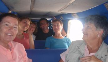 us all crammed into said mini plane