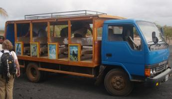 our safari bus, before the mud