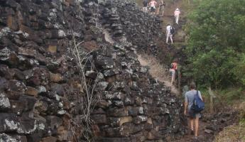 the wall of tears.. pile of rocks on Isabela