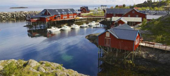 Quaint fishing village in Norway