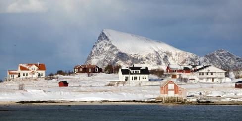 Scattered houses of Tromso