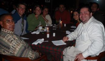 Us hanging with the Ecuador crew!