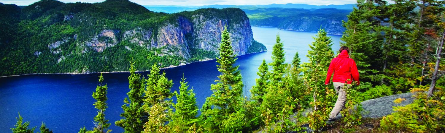 Hiking in the Saguenay Fjord
