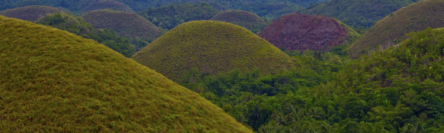 The unique landscape of the Chocolate Hills