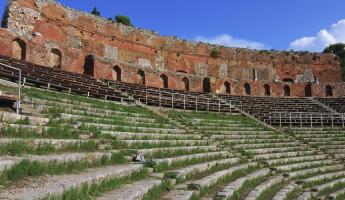 An abandoned theatre in Taormina, Sicily