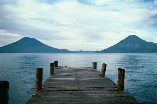 The sculpted shores of Lake Atitlan