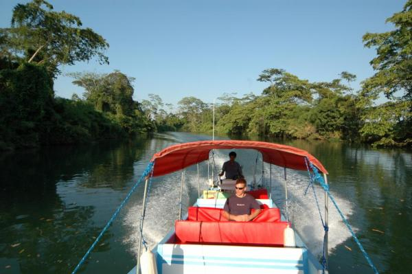 Enjoy a scenic boat ride up Rio Dulce