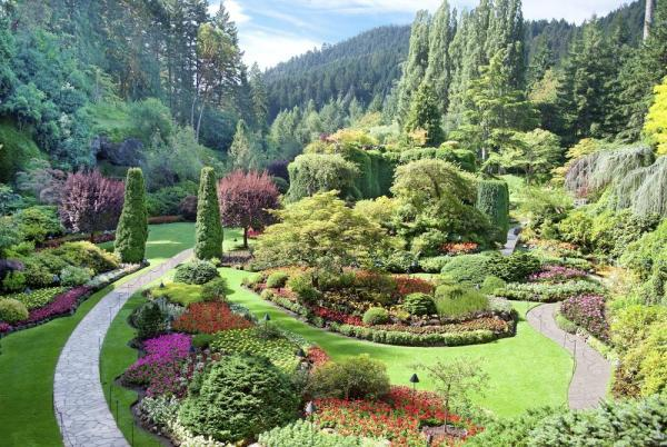 Sunken Garden at Butchart Garden, British Columbia