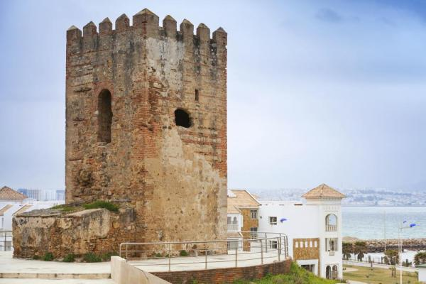 Ancient fortress tower in Tangier, Morocco