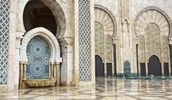 The beautiful interior of the Hassan II Mosque