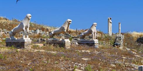 Statues found on Delos Island