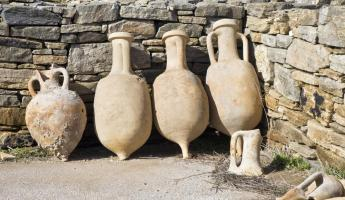 Pottery found during excavations on Delos
