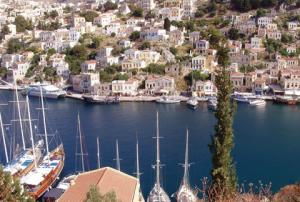 Symi's peaceful harbor