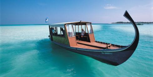 Boat in the Maldives