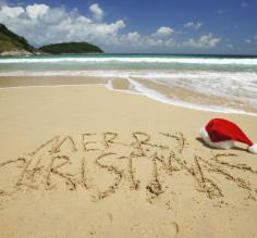 Christmas on the beach is a great idea!