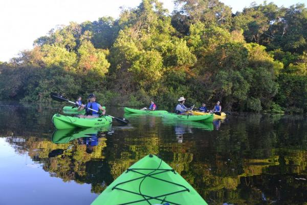 Kayaking in the Amazon from the Tucano