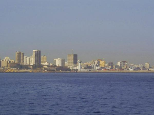 A view of Dakar from the sea