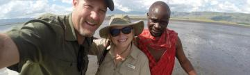 Us with our Maasai guide Dennis
