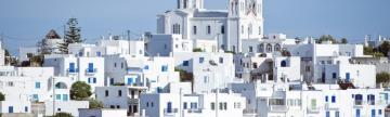 White buildings on the Island Of Paros