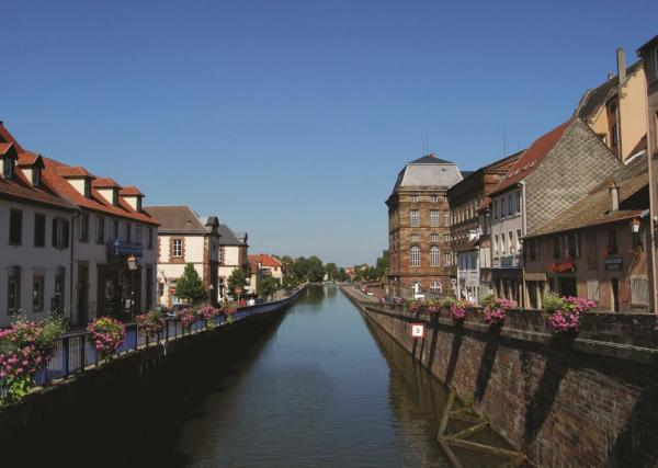 Pristine towns line the canals of France