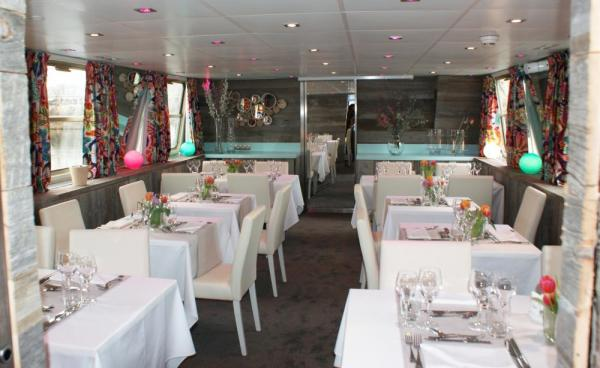 Enjoy fine dining on the decks of the MS Jeanine